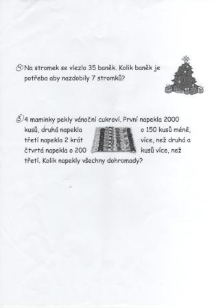 4 Christmas Maths task number 4,5